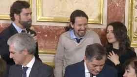 Espinosa de los Monteros, Iglesias y Arrimadas el pasado 6-D en el Congreso.