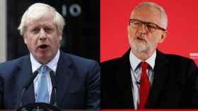 Boris Johnson, primer ministro y líder del Partido Conservador, y Jeremy Corbyn, jefe del Partido Laborista.