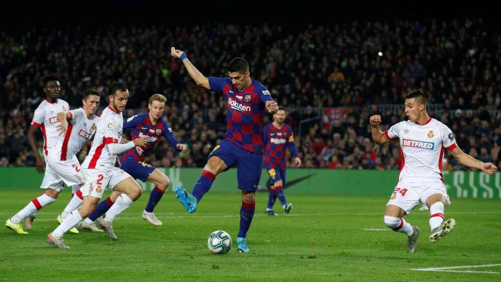 Luis Suárez con el Barça ante el Mallorca
