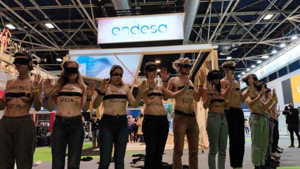 Los activistas de 'Extinction Rebellion' en la COP25.