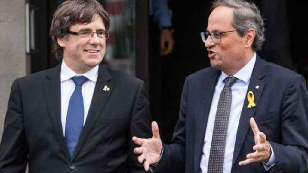 Puigdemont y Torra en una imagen de archivo.