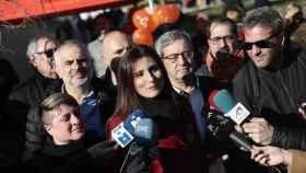 La líder de Cs en Cataluña, Lorena Roldán, en declaraciones a la prensa en Sant Boi de Llobregat (Barcelona).