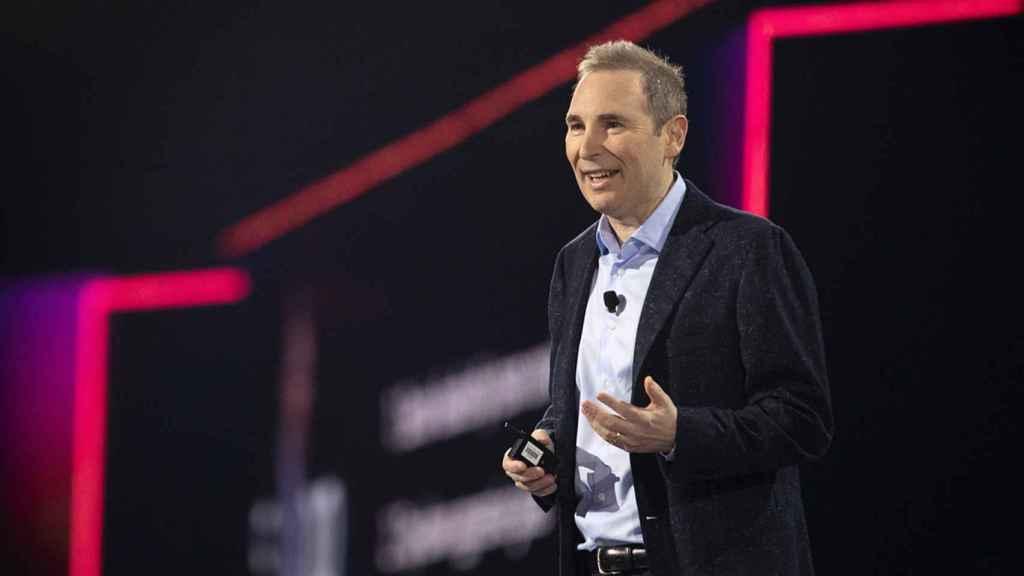 El CEO de Amazon Web Services (AWS), Andy Jassy, durante su conferencia en el Reinvent de Las Vegas.