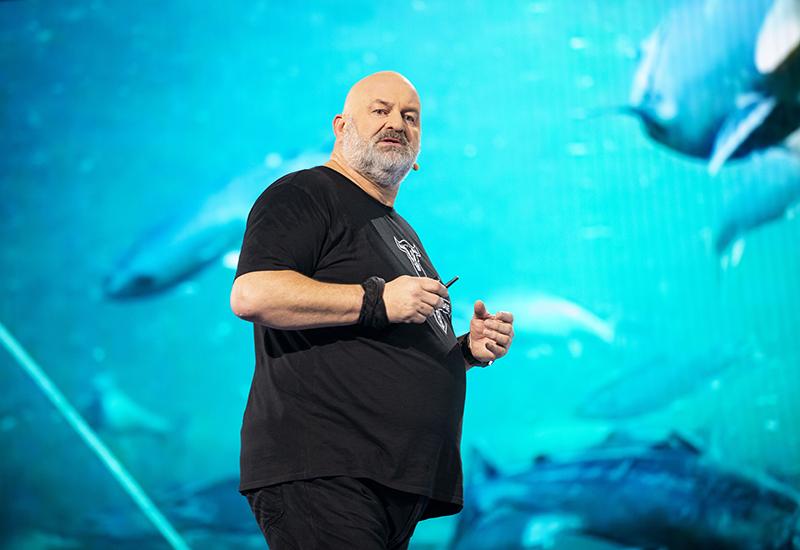 El CTO de AWS y de Amazon.com, Werner Vogels, en el Reinvent. Foto: AWS