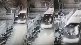El incidente tuvo lugar de madrugada, cuando el hombre se llevó por delante todos lo vehículos aparcados.