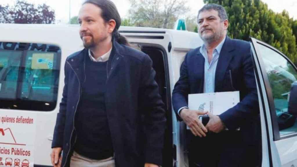 El líder de Unidas Podemos, Pablo iglesias, junto a Pablo Gentili.