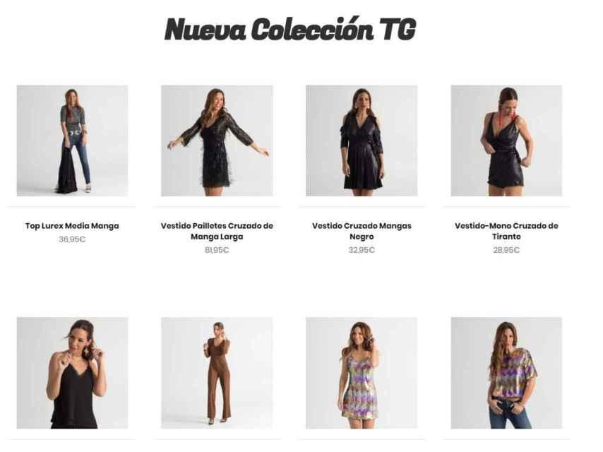 Captura de la web de TG, la nueva aventura en la moda de Tamara Gorro.