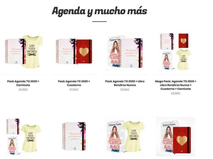 Presentación de las agendas y packs de la web de Tamara Gorro.