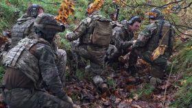Militares en el ejercicio Terminal Strike desarrollado en Reino Unido.