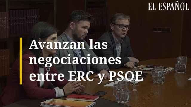 Avanzan las negociaciones entre ERC y PSOE