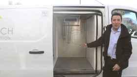 Una furgoneta de reparto con el sistema de BiofreshTech.