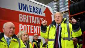 Johnson en un acto de campaña.