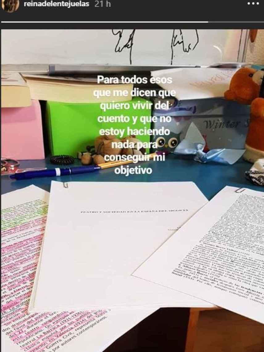 Pantallazo de las redes sociales de Carla Vigo.