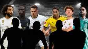 Marcelo, Ferland Mendy, Sergio Reguilón, Achraf Hakimi, Álvaro Odriozola y Dani Carvajal