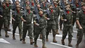 Desfile del 12-O en Madrid.
