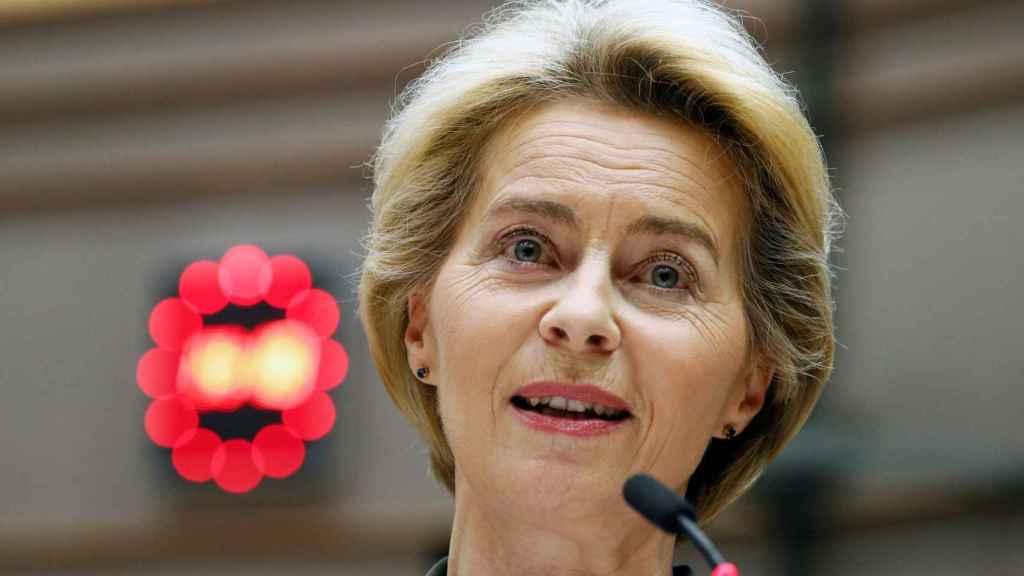 Ursula von der Leyen, durante la presentación este miércoles del Pacto Verde Europeo
