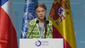 Greta Thunberg habla en el plenario sobre Emergencia Climática.