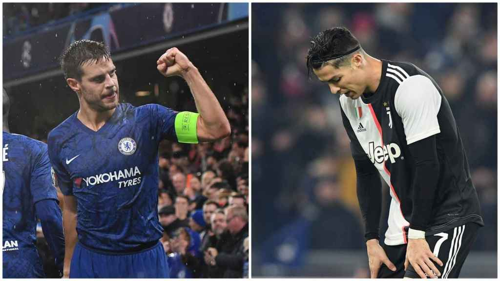 Azpilicueta y Cristiano Ronaldo