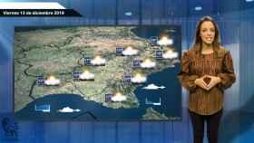 Fotograma de la predicción del tiempo de 'El español'.