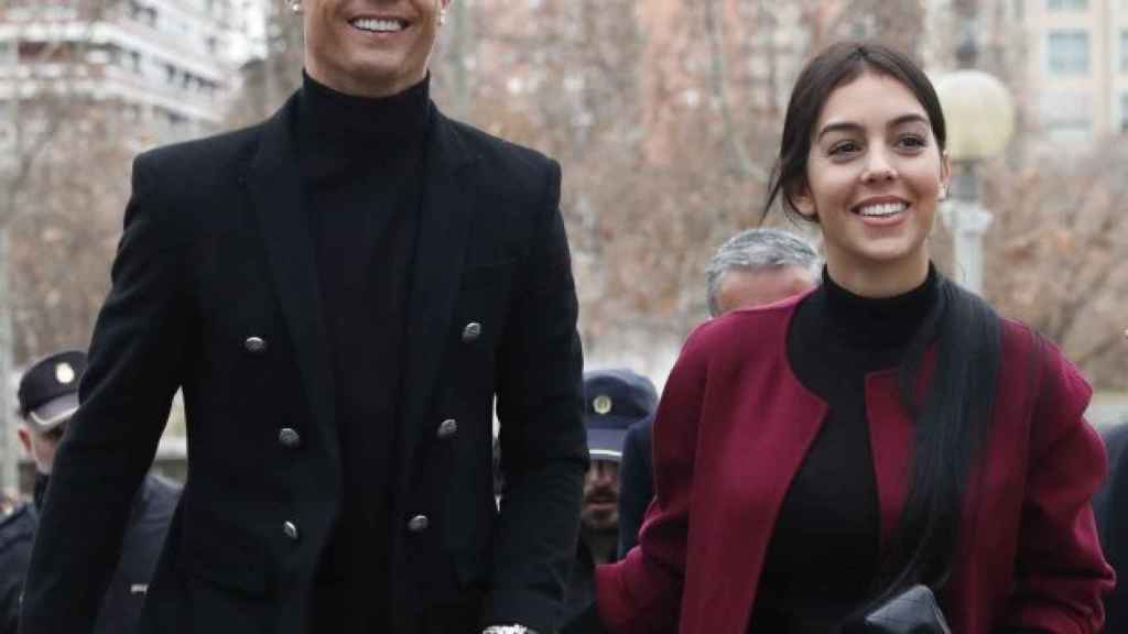 Cristiano y Georgina, en Madrid.