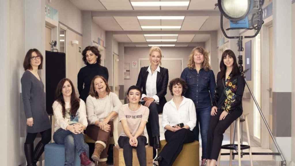 Directoras y actrices de 'Madres'.