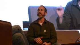 Bruce straley, durante su charla en el Fun and Serious Game Festival.