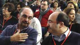 Javier Lambán junto a Iceta.