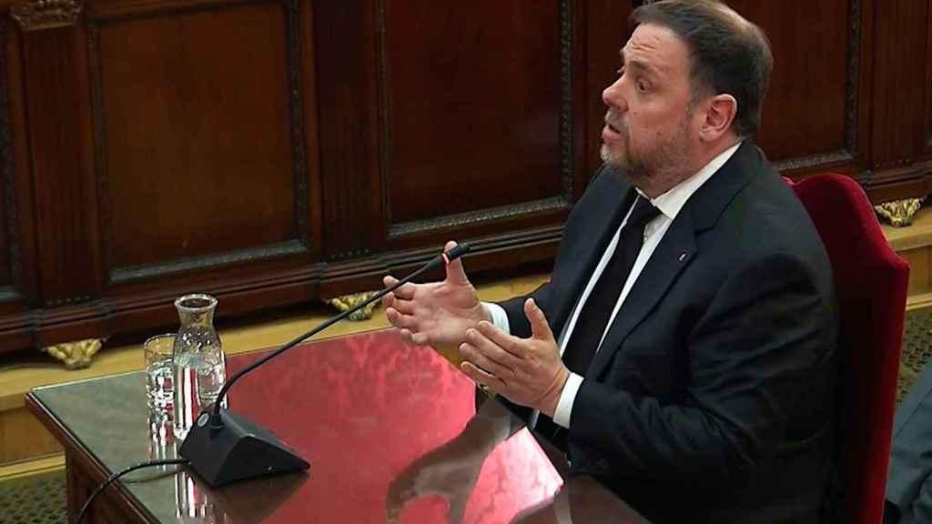 El exvicepresidente de la Generalitat, Oriol Junqueras, en el Supremo.