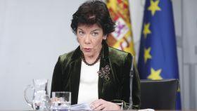 Isabel Celaá, portavoz del Gobierno y ministra de Educación.