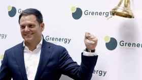 El consejero delegado de Grenergy, David Ruiz de Andrés, en el debut bursátil de la compañía.