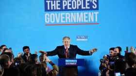 Boris Johnson en su comparecencia tras ganar las elecciones.