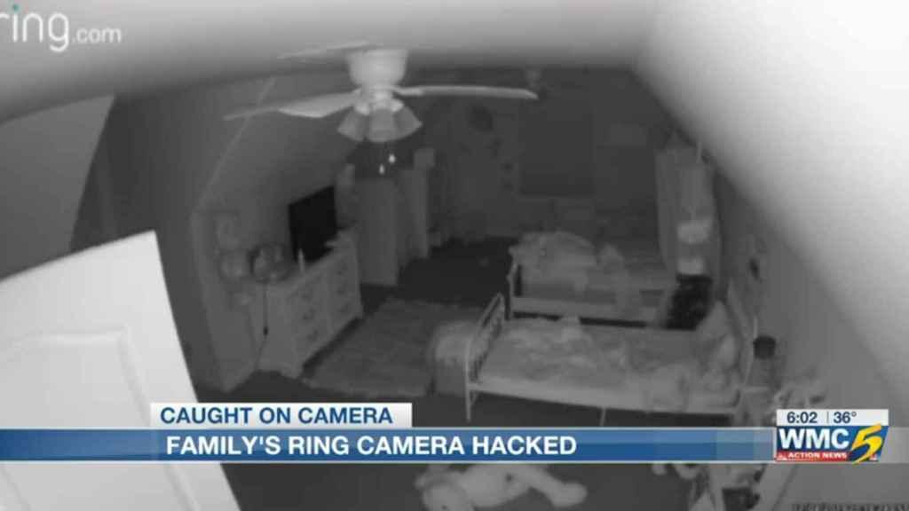 Cámara de Ring hackeada