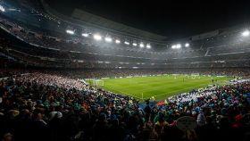 Plano del Santiago Bernabéu durante un partido