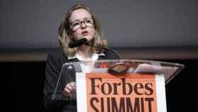 Nadia Calviño, en la cumbre de 'Forbes'.