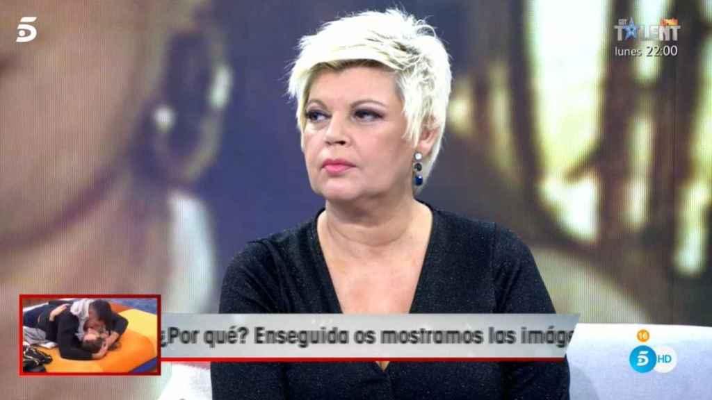 Terelu Campos durante el momento de su dura confesión en 'Viva la vida'.