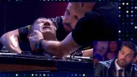 Un momento de la angustiosa actuación de Pedro Volta (Telecinco)