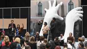Una de las acciones en la Cumbre del Clima en Madrid.