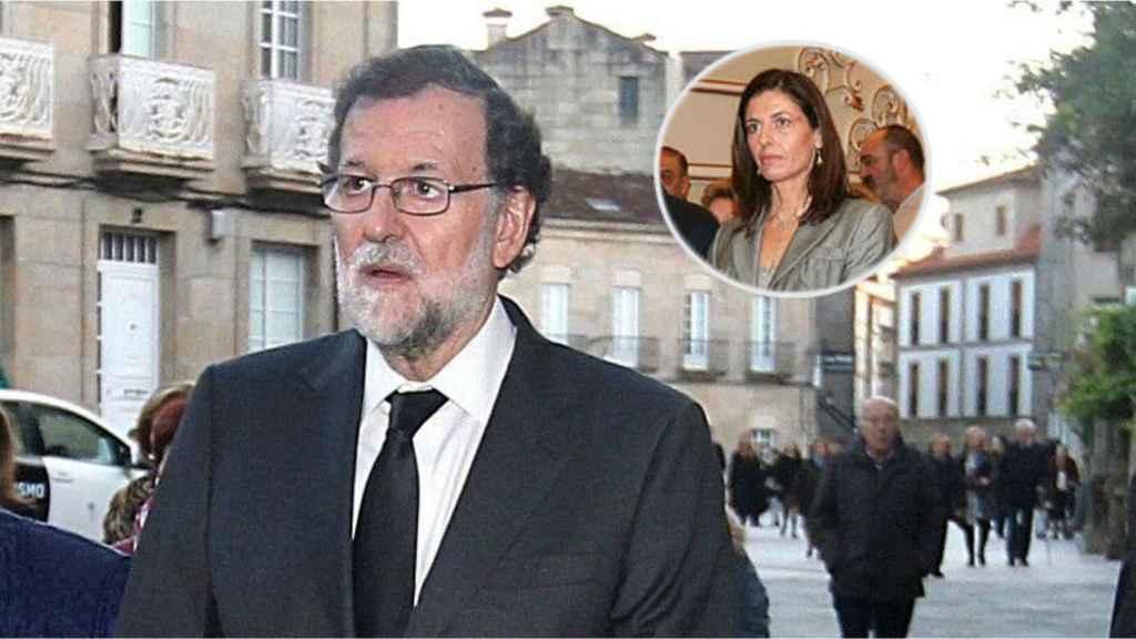 El expresidente del Gobierno Mariano Rajoy junto a su hermana en un montaje.