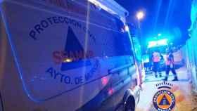 Personal de Protección Civil del Ayuntamiento de Murcia y del 061 en la zona donde fue encontrado el menor.