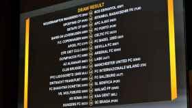 El cuadro de dieciseisavos de final de la Europa League
