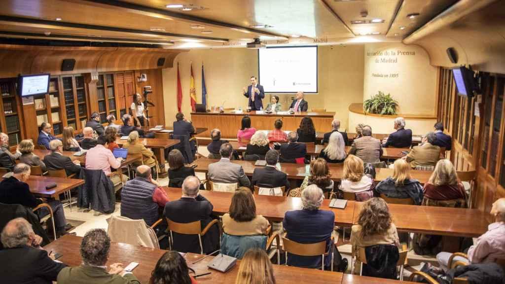 Auditorio de la APM, durante la entrega del premio.