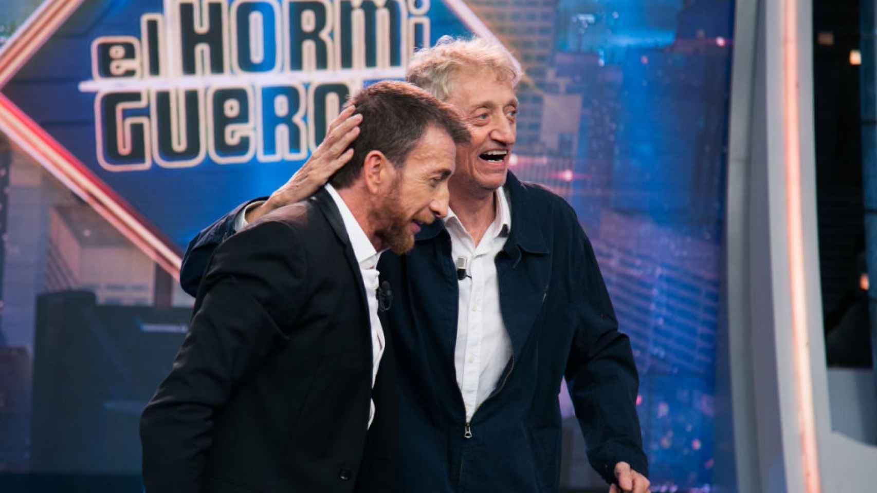 Enrique San Francisco y Pablo Motos, este lunes por la noche en 'El Hormiguero'.