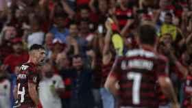 El Flamengo celebra la victoria