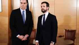 Sánchez y Casado en el Congreso.