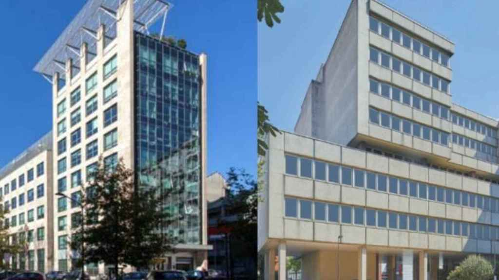 Los dos edificios comprados por Mapfre en Milán y París.