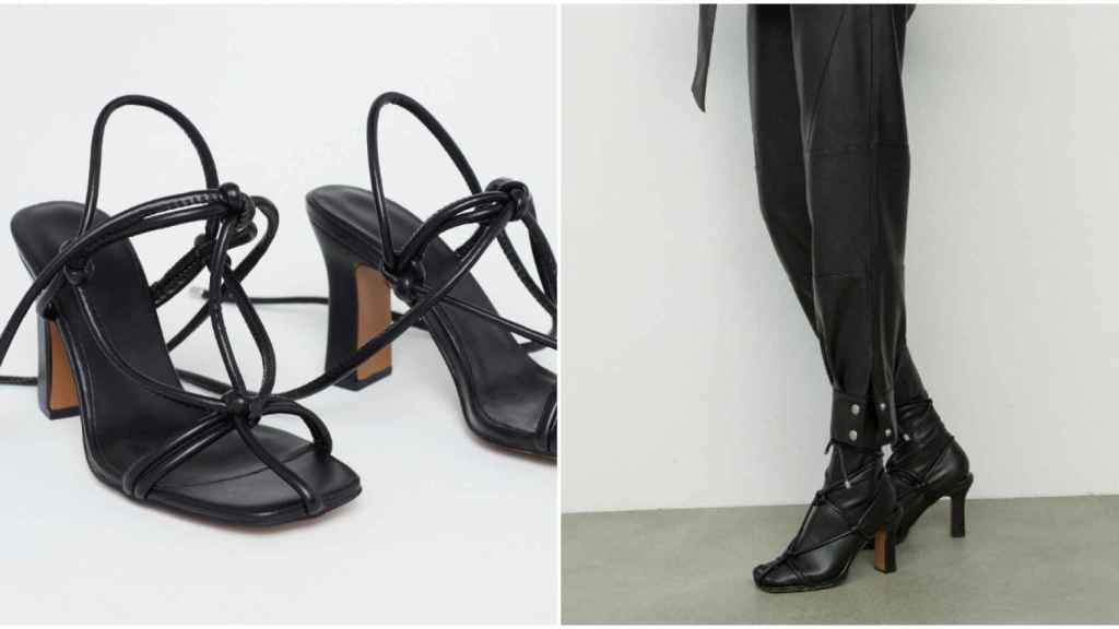 Las sandalias de Sfera se convierten fácilmente en una especie de 'bota' de polipiel.