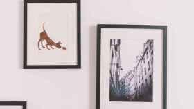 Ideas para colgar cuadros sin estropear la pared