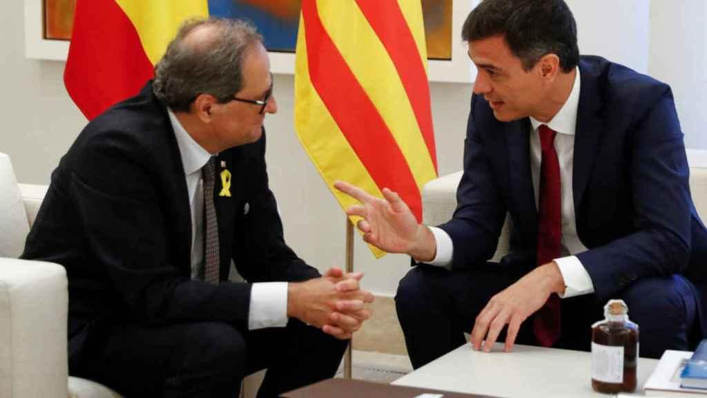 Pedro Sánchez y Quim Torra, en una reunión en La Moncloa.
