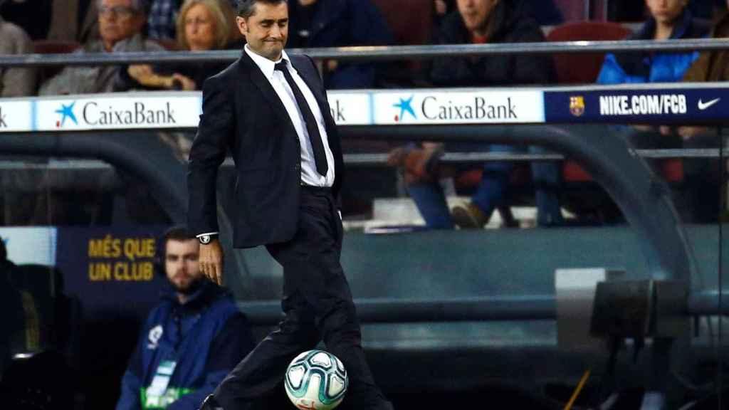 Ernesto Valverde, durante el partido