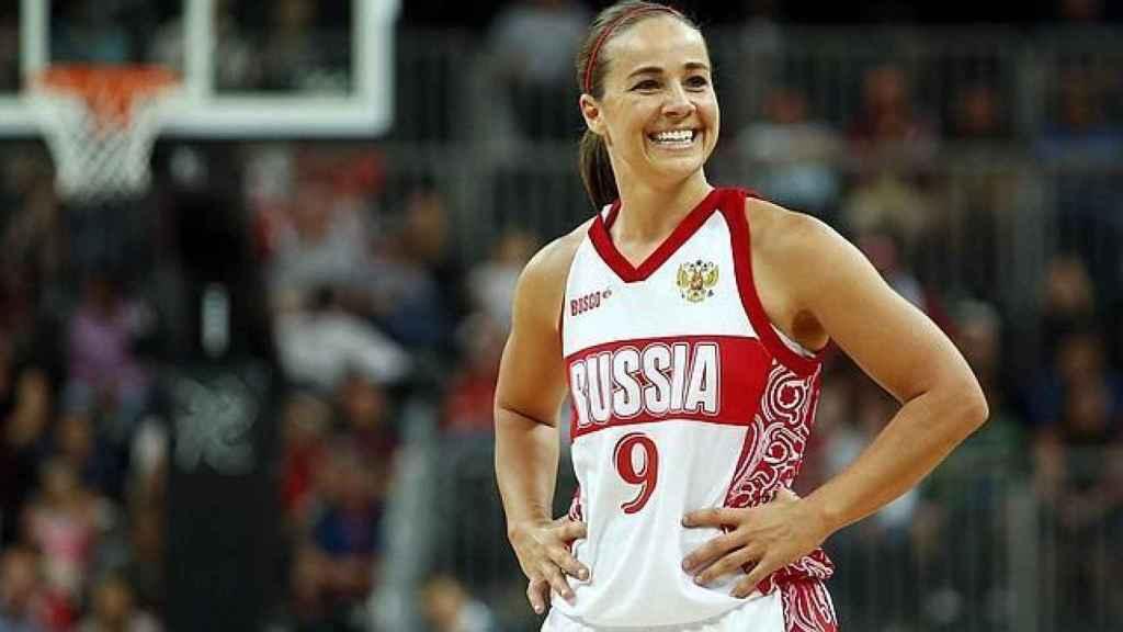 Becky Hammon, con la selección de Rusia
